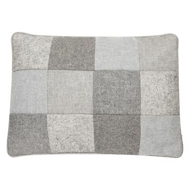 Patchwork Grey Cushion 35x50 cm