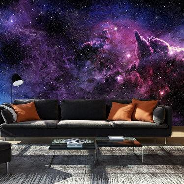 Cosmic Purple Mural Wallpaper 300x210 cm