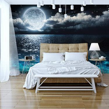 Blue Lagoon Mural Wallpaper 300x210 cm