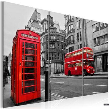 London Vibe 3 Piece Canvas Print 120x80 cm