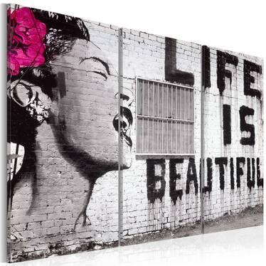 Enjoy Life 3 Piece Canvas Print 120x80 cm