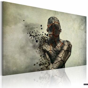 Man Of Stone Canvas Print 90x60 cm