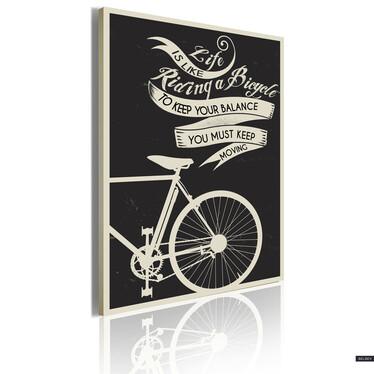 Vintage Bike Canvas Print 50x70 cm