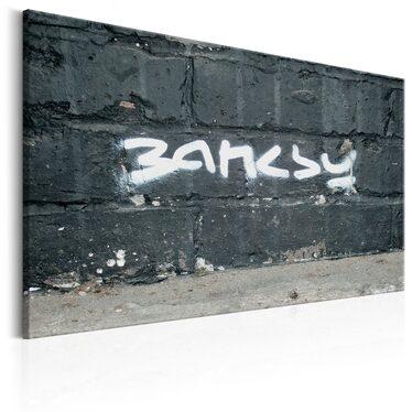 Banksy Signature Tag Canvas Print 90x60 cm