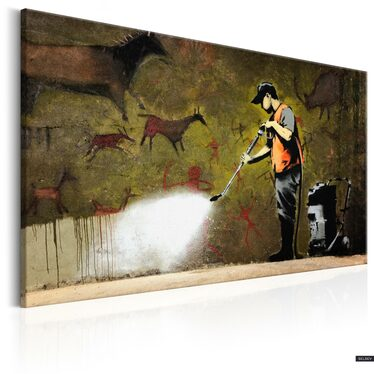 Banksy Cave Painting Canvas Print 90x60 cm
