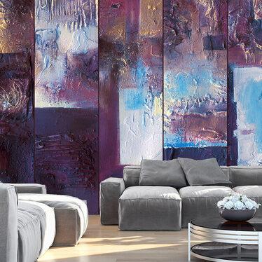 Winter Evening Mural Wallpaper 50x1000 cm