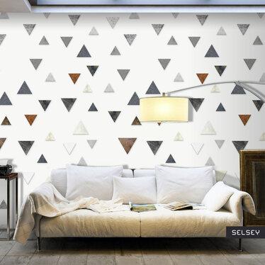 Triangular Harmony Mural Wallpaper 50x1000 cm