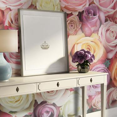 Pastel Roses Mural Wallpaper 200x154 cm