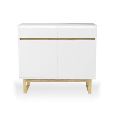Scandinavia White 2 Drawer Sideboard