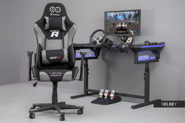 Racer GTR Gaming Chair Black and Grey