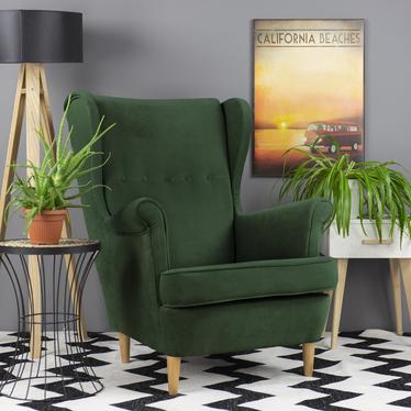 Mallmon Fern Green Armchair in Water-Repellent Fabric