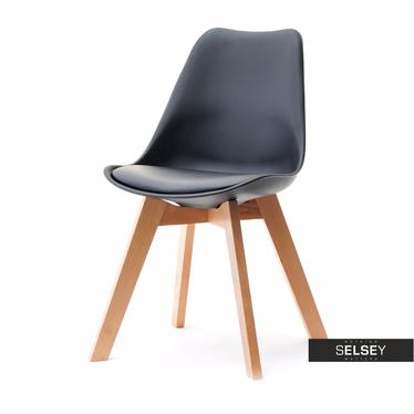 Luis Black Chair on Beech Legs