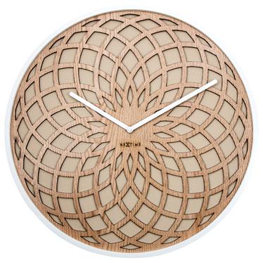 Sun Wooden Wall Clock 35 cm