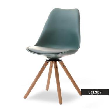 Luis Green Chair on Beech Legs