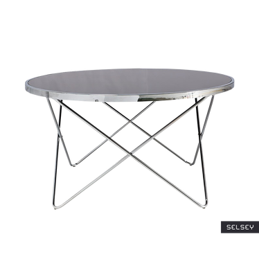 Chrome Designer Coffee Table 85 cm