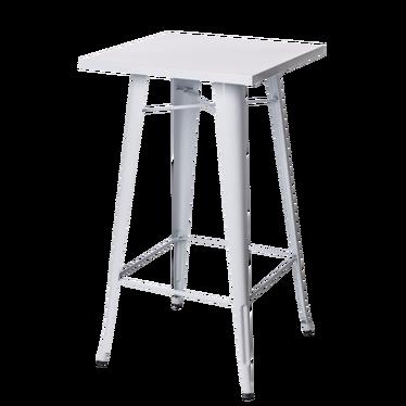 Paris White Bar Table 60x60 cm