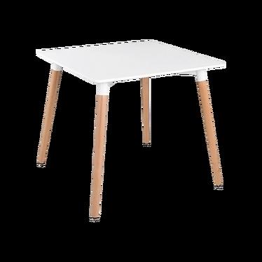 Irgil White Table on Beech Legs