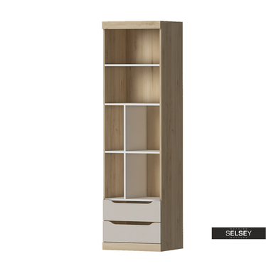 Ankara Open Bookcase with Drawers