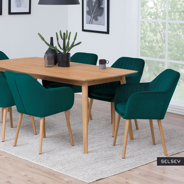 Elidi Deep Green Upholstered Chair