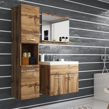 Sillali 3 Piece Floating Bathroom Set