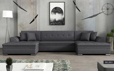 Tagrene Corner Sofa Bed Grey
