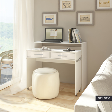 Pecan Compact Home Office Desk