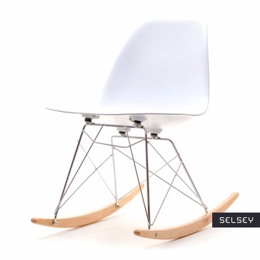 Roxy White Rocking Chair