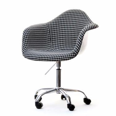 Hunter Houndstooth Upholstered Swivel Chair