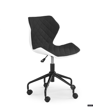 Forint Tufted Office Chair Black and White