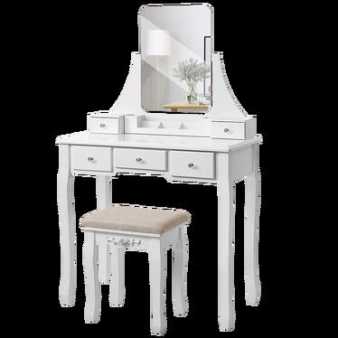 Madame Simple Vanity Table Set with Mirror 80 cm