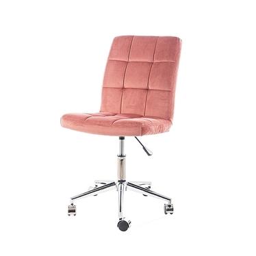 Leonero Office Chair Pink Velvet