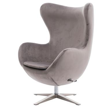 Cocoon Velvet Grey Armchair