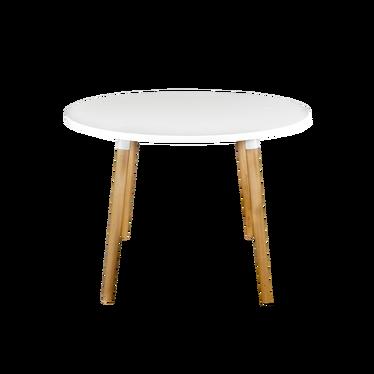 Copine White Round Dining Table 100 cm