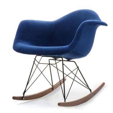 Roxy Navy Blue Rocking Chair