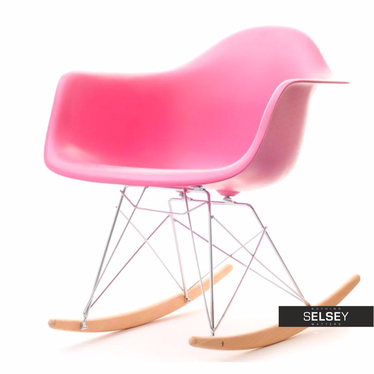 Roxy Pink Rocking Armchair