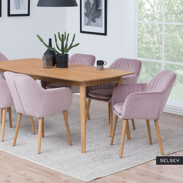 Elidi Powder Pink Upholstered Chair