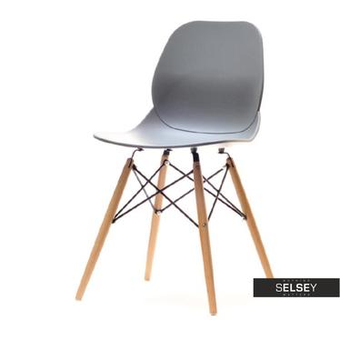 Leaf Grey Chair on Wooden Legs