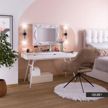 Boduna White Scandinavian Desk