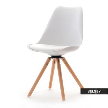 Luis White Swivel Chair