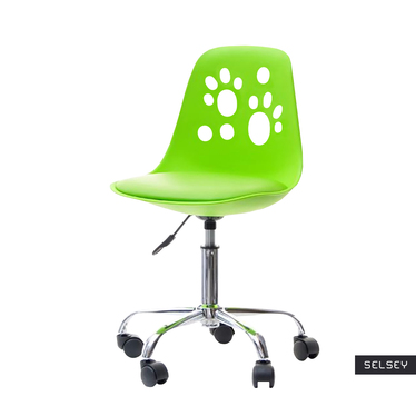 Foot Kids Swivel Chair in Lime Colour