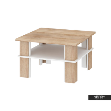 Florence Square Coffee Table with Shelf