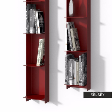Magnificent Libra Red Floating Metal Shelf Interior Design Ideas Clesiryabchikinfo