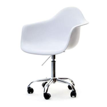 Hunter White Swivel Chair