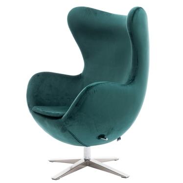 Cocoon Velvet Designer Armchair Pine Green