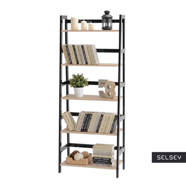 Tower Black Ladder Bookcase