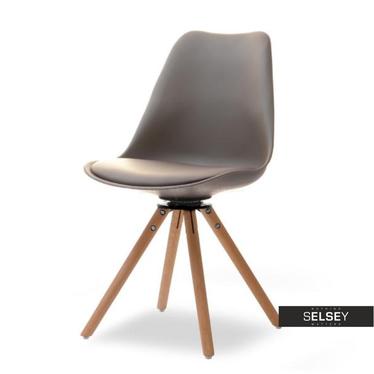 Luis Cappucino Swivel Chair on Beech Legs