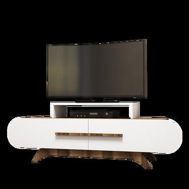 Ovalia White TV Stand 145 cm