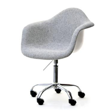 Hunter Grey Upholstered Swivel Chair