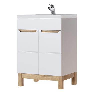 Jakarta White Bathroom Vanity Unit 60 cm