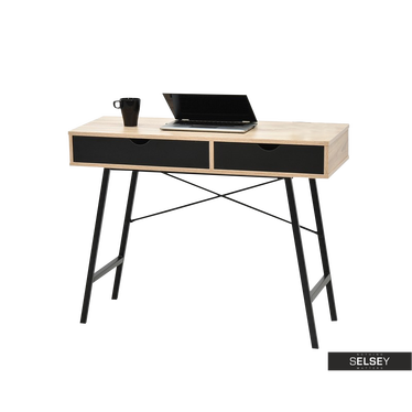 Falun Black Scandinavian Desk